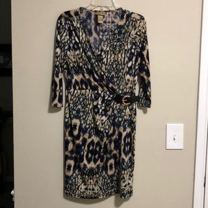 Miss Tina faux wrap dress SZ M(8-10) EUC